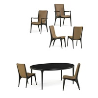 assembled dining set (7 works) by vladimir kagan