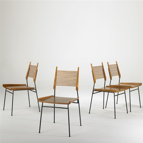 four planner group shovel head chairs by paul mccobb