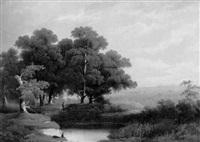 romantische landschaft by a. melzer