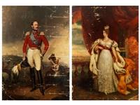 portrait des russischen zaren nikolaus i. (+ portrait der zarin alexandra feodorowna; pair) by george dawe