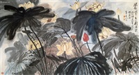 荷花 by liu haisu
