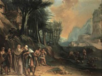 aaron taking leave of moses by carlo lodi