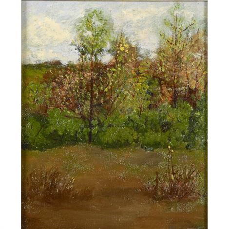 a fall landscape by willard leroy metcalf