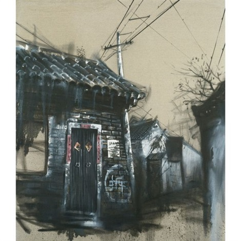 view of houses in the street by lu hao