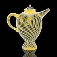 mezza filigrana teapot by lino tagliapietra