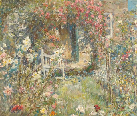 the cottage garden by frederick william jackson