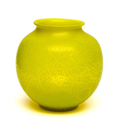 A Large Yellow Glass Leerdam Unica Vase By Andries Dirk Copier On Artnet
