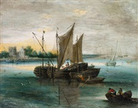 seascape with boats on the water by jan brueghel the younger