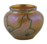 miniature vase by louis comfort tiffany