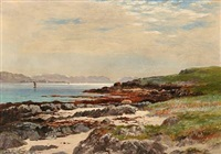 iona looking south - coastal scene from the island of iona, scotland by john nesbitt