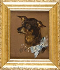 portrait of a terrier by marcel andre baschet