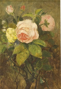 bouquet of roses by ernest p. allard