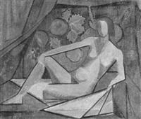 liegender weiblicher akt by merina valentino