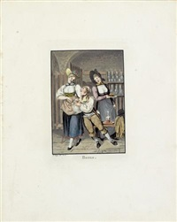 costumes suisses (portfolio of 27, folio) by franz hegi