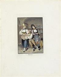 costumes suisses (portfolio of 27, folio) by franz hegi