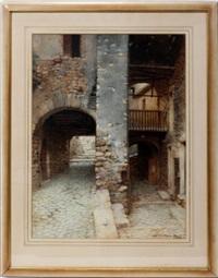 courtyard scene by scipione simoni