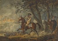kavallerieszene by johann conrad gessner