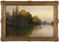 approaching twilight by alfred de breanski sr