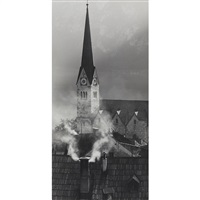 steeple of the protestant church by stefan kruckenhauser