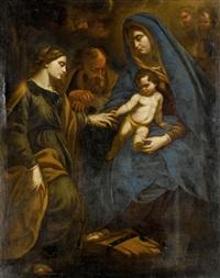 die mysthische vermählung der hl. katharina by andrea vaccaro