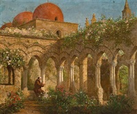 cloister in palermo by enoch wood perry