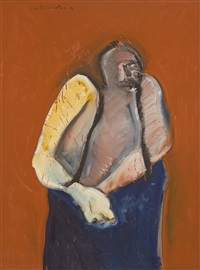 dartmouth portrait #5 by fritz scholder