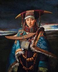 藏族女孩 by ma jian
