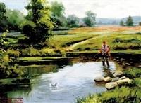 un dia de pesca by salvador caballero