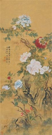 富贵花开 peony by tang shishu