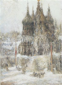 towers of sain basil, moscow by george wharton edwards