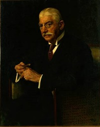 portrait of carl gammeltoft by herman albert gude vedel