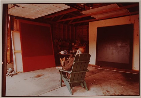 portrait of mark rothko in studio by hans namuth