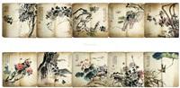 花鸟册页十副马年作品 (album of 10) by jiang hanting