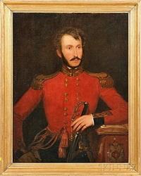 portrait of captain henry c. lynch of the 48th madras native infantry by carlo ernesto liverati
