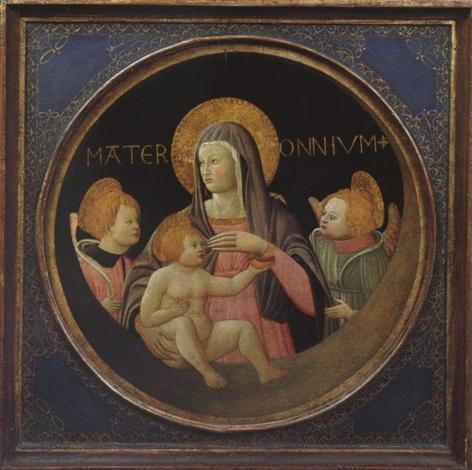 mater omnium madonna mit kind und engeln by apollonio di giovanni di tommaso