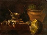 stillleben mit küchengeräten by cornelis jacobsz. delff