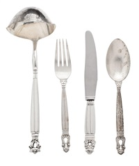 cubertería acorn (set of 209) by georg jensen (co.)