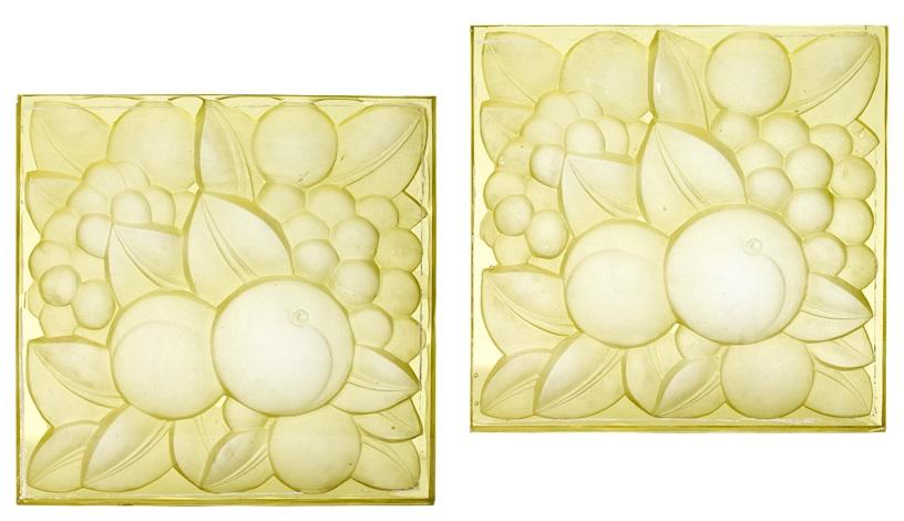 plaques fruits set of 2 by rené lalique