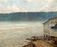 view of the palisades by bayard henry tyler