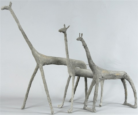 giraffen 3 works various sizes by ulrich bleiker