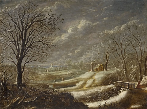 winter landscape by daniel van heil