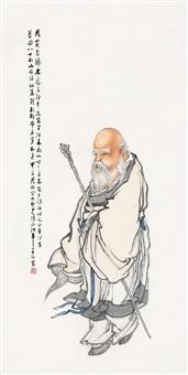 寿星图轴 by lin xiang