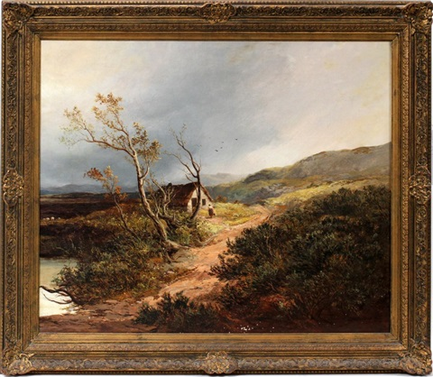 autumn landscape by frederick richard lee