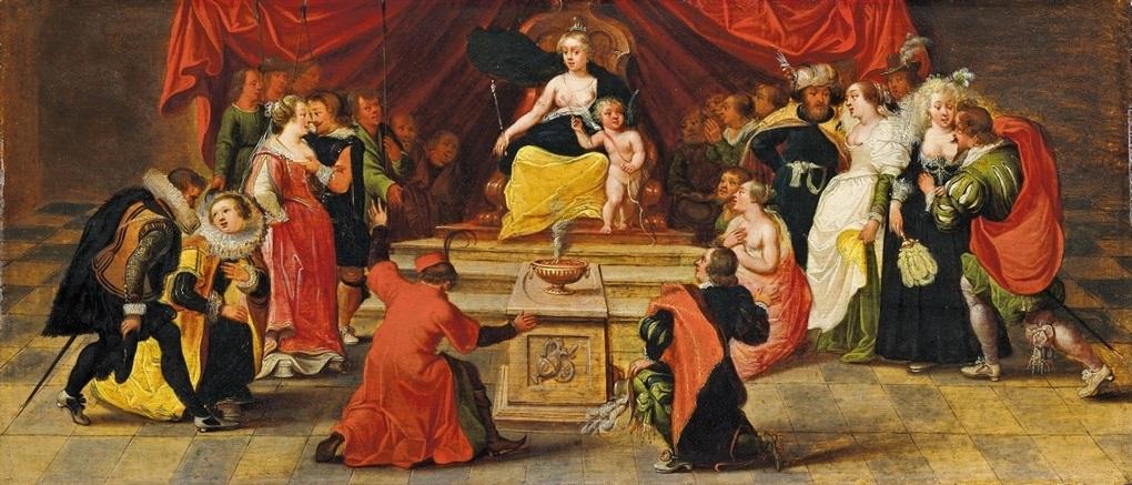 allegorische szene huldigung der venus by simon de vos