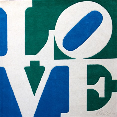 love tapestry by robert indiana