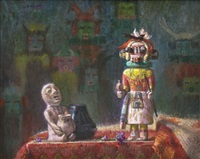 kachina and rain god by richard vernon goetz