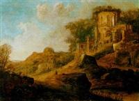 italienische landschaft mit ruinen by pieter anthonisz van groenewegen