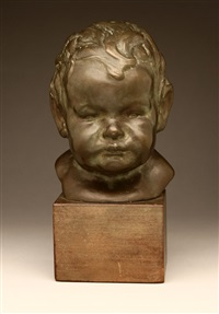 bust of jean gage, daughter of the artist, as a baby by robert merrell gage