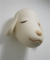 big pup head by yoshitomo nara