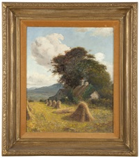 farmhouse under trees by james hey davies